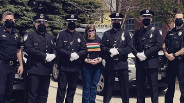 Cape Elizabeth woman makes masks for town's police officers
