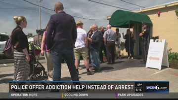Addicts getting help from police