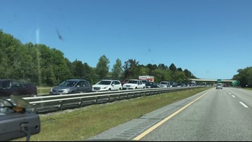 I-295 Brunswick crash traffic