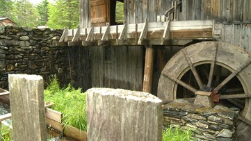 An 18th Century Saw Mill Powered by Water