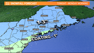 Three chances for snow this week, starting late tonight
