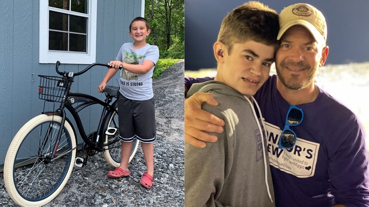 11-year-old from Bowdoin raffles off a bike he won to help boy with rare disorder
