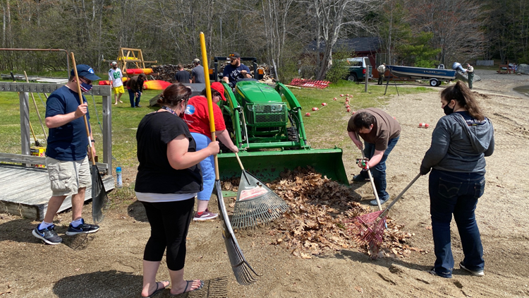 Volunteers give back to Camp CaPella in Dedham