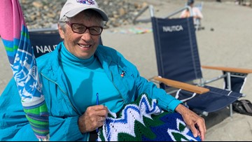 'Love Lois' crocheting to better community on Maine beach