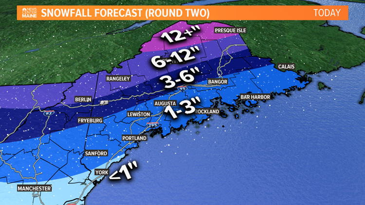 Snow map today