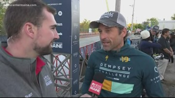 Patrick Dempsey gets excited for day two of the Dempsey Challenge