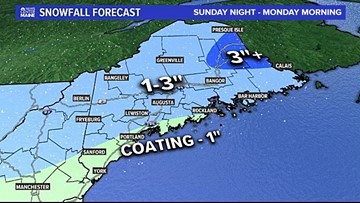 A slightly messy Monday morning, more snow and rain through the week