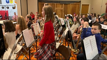 Veazie Community School receives 32 instrument donation for Modern band program