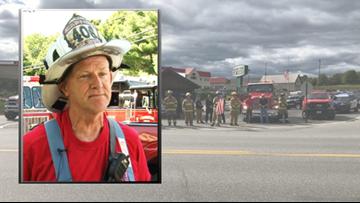 Body of fallen firefighter Captain Michael Bell returns home to Farmington