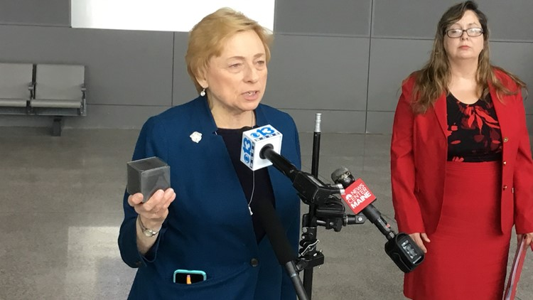 Gov. Janet Mills speaks about support for CMP power-line