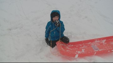 A Maine snow day through the eyes of 7-year-old Jesse Carroll