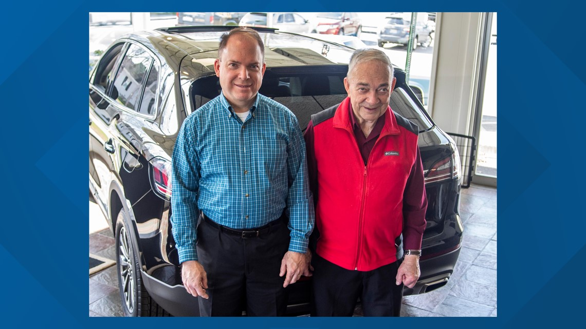 Behind the wheel of D&H Motors for more than sixty years