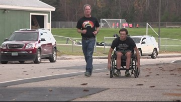 Wheelchair athlete gets his chance to race
