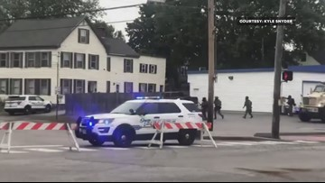 SWAT team moves in during Saco standoff