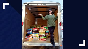Maine woman delivers over 3,500 pounds of food to dogs in need