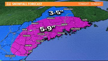 "Burst of snow tonight; widespread 5-9"" expected"