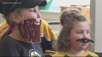 Kids don beards for the Bruins
