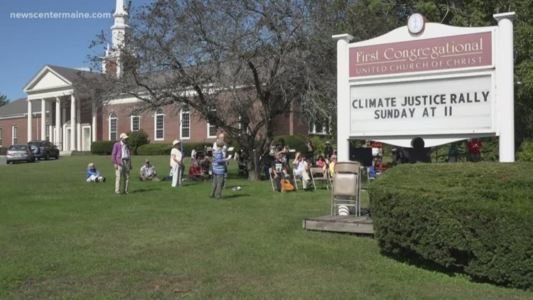 Climate change rally held in Waterville