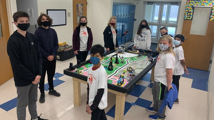 Veazie Community School robotics team wins two awards from statewide competition