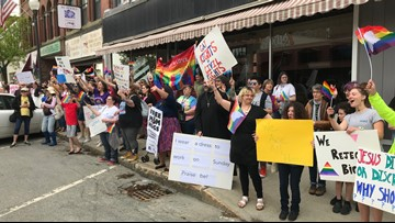 Waterville bookstore holds Drag Queen Story Hour
