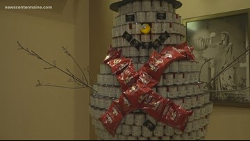Hollywood Casino donates close to a ton of food to Mainers in need