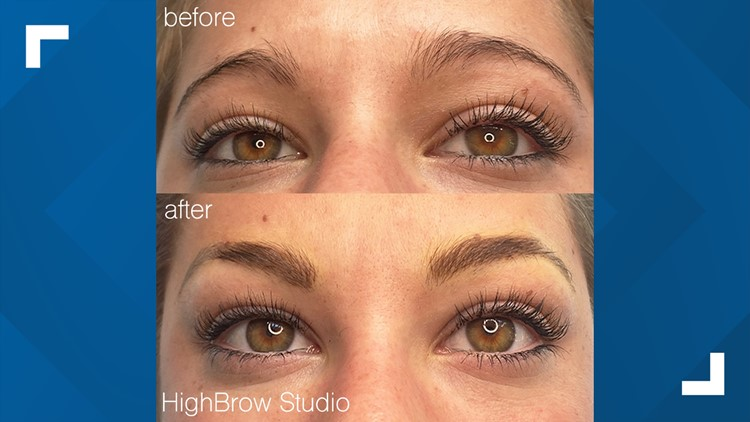 Microblading artist before and after