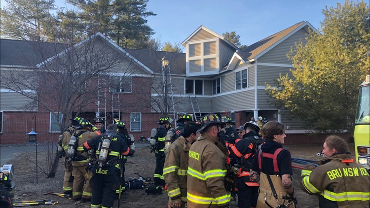 Brunswick fire leaves two apartments uninhabitable, officials say