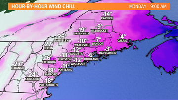 BITTER COLD: Dangerous wind chills to start the week