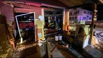 Police chase ends in crash through front of country store in Otisfield; driver tased resisting arrest