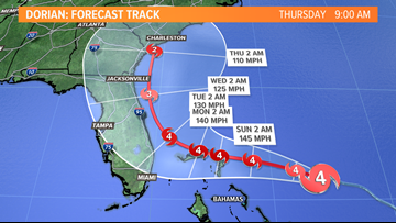 Major Hurricane Dorian forecast track shifting | Breton Blog
