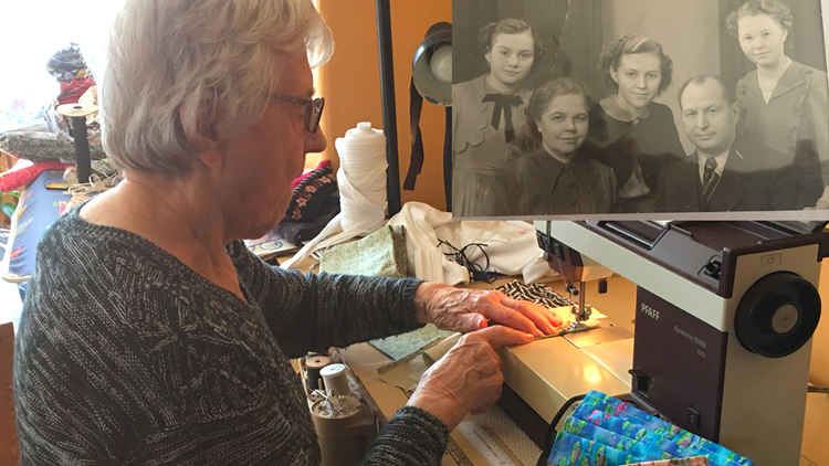 Mother taught 'help your  fellow man', now 89-year-old Mainer pays it forward by making masks