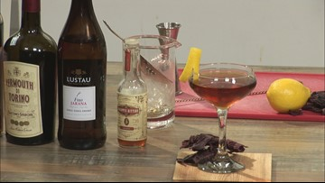 Creating cocktails with locally harvested seaweed