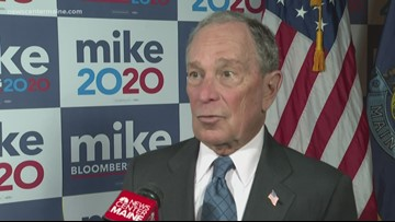 Presidential candidate Bloomberg in Maine