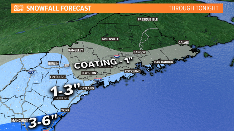 Light snow today in Maine, minor impacts expected