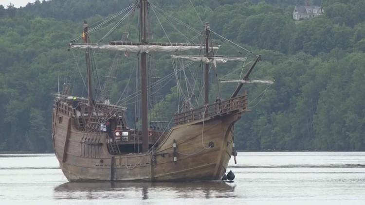 Ship arrives in Bucksport, kicking off Penobscot Maritime Heritage Association celebration of Maine's 200th birthday