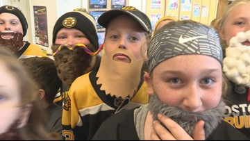 Maine students 'grow' playoff beards for the Bruins