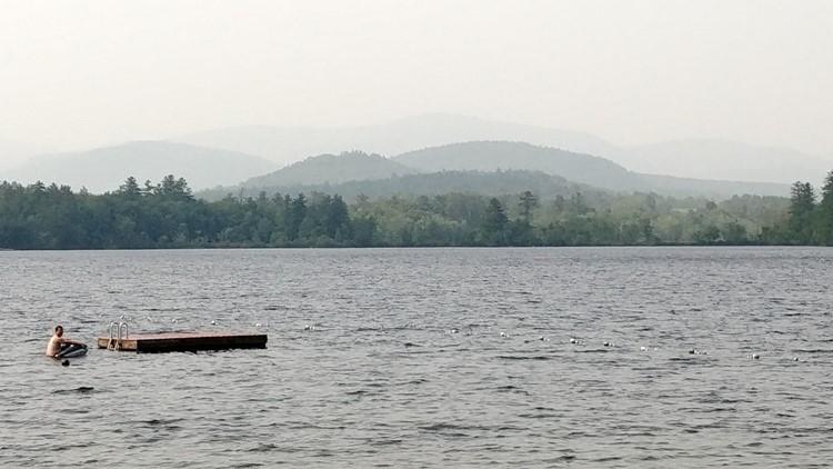 Smoke over Kezar Lake
