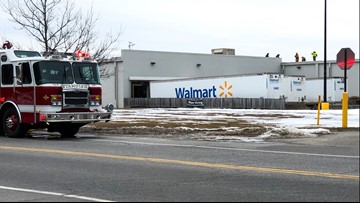 Ruptured fuel line clears out Windham Walmart