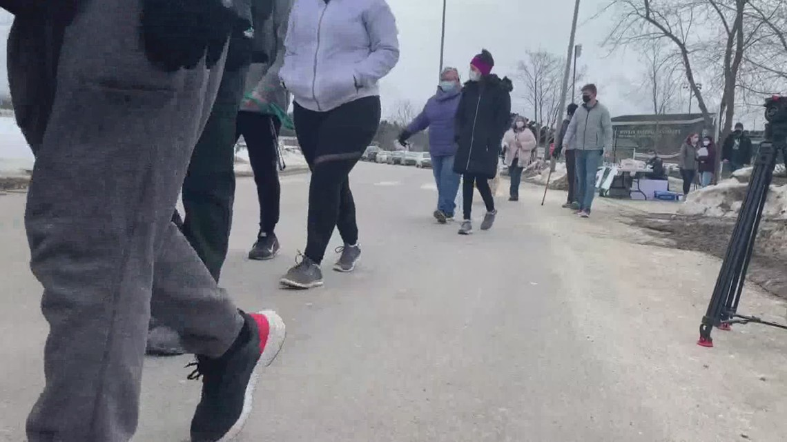 Husson U. students 'walk for warmth'