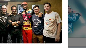 Lonely Island member dons Maine high school sweatshirt