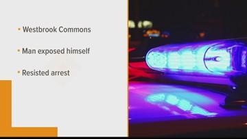 Man arrested in Westbrook for exposing himself