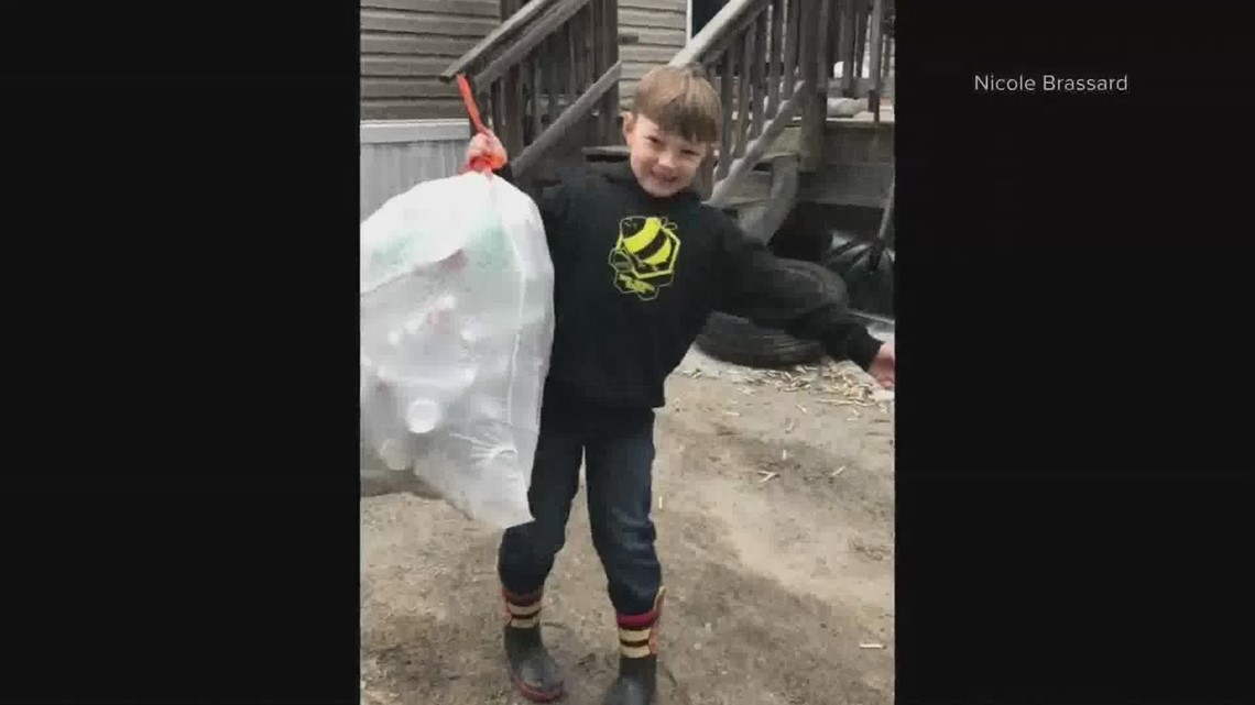 Six-year-old raises money for animals with bottle drive