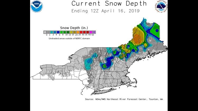 Snow Depth a Week Ago