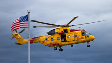 U S  Coast Guard from Eastport helps find missing swimmer in