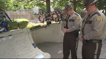 'It hits very close to home': Maine police officers visit national memorial in Cpl. Cole's honor