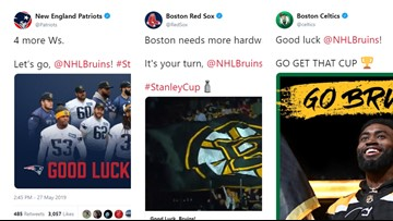 Pats, Sox, C's wish Bruins well in Stanley Cup Final