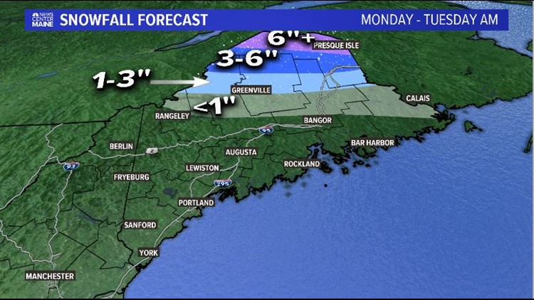 Snow Map Tuesday