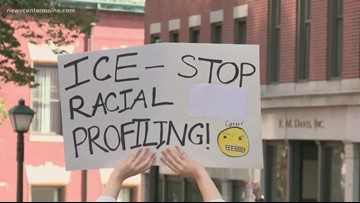 Mainers protest new ICE office in Portland building