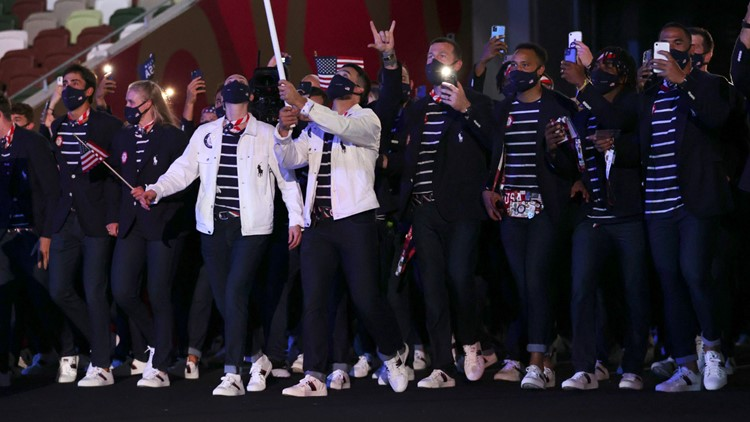 Team USA's Olympic opening ceremony sneakers made by Lewiston, Maine shoemaker