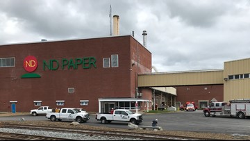 Two firefighters injured during fire at ND Paper mill in Old Town